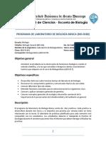 Programa de Laboratorio de Biologia Basica (BIO-018) no presencial - 2020-20
