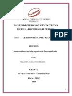 Demarcación territorial y organización Descentralizada (1)