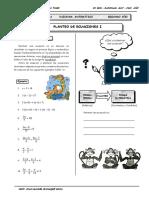 IV Bim - 2do. año -  RM01 - Planteo de ecuaciones I