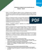 REGLAMENTO DE EXPERIENCIA FORMATIVA EN SITUACIÓN REAL DE TRABAJO 2020