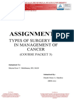 Cancer Types of Surgery
