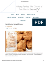 Quick Indian Spiced Chicken -