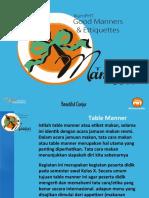 TABLE MANNER PRESENTATION 2017