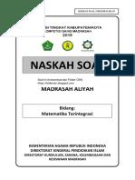 Soal KSM MATEMATIKA MA 2019