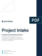 Project Intake Getting Started Guide