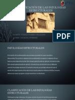 Clasificación de las patologías estructurales