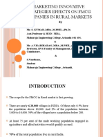 Marketing Innovative Strategies Effects on Fmcg Companies In India Rural Regions