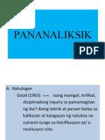 PANANALIKSIK