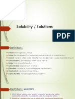 Solutions- solubility