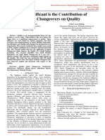 How Significant is the Contribution of Quick Changeovers on Quality