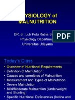 Physiology of Malnutrition