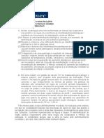 EXERCÍCIOS PATOLOGIA - 1