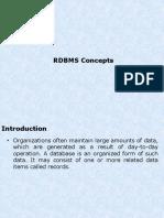 RDBMS SESSION 1