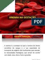 Anemia na gestação