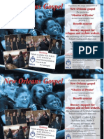 New Orleans gospel choir event poster