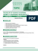 COURSE TOPIC-Nures 1 CM2- week 9