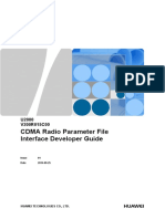 Huawei U2000 CDMA Radio Parameter File Interface Developer Guide