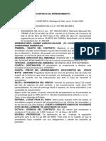 CONTRATO DE ARRENDAMIENTO DE APARTAMENTO 302