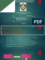 DEFINICIÓN DEL SISTEMA DE EVALUACIÓN (grupo 04 turm mañana)