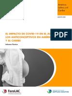 Informe Impacto Del Covid 19 en Acceso a Los Anticonceptivos en ALC