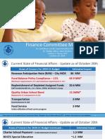 Finance Committee Meeting 10.20 Updated Presentation