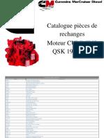 Catalogue pièces Cummins QSK 19