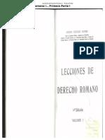 Lecciones del Derecho Romano I... Primera Parte I