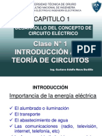 CLASE N° 01 INTRODUCCIÓN A LA TEORÍA DE CIRCUITOS