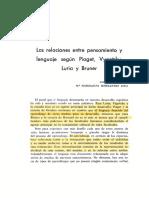 Las relaciones entre pensamiento segun Piaget Vygotsky.pdf