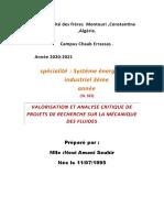 recherche analysée sur la mecanique des fluides 2SEI.docx