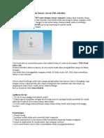 Saklar Lampu Otomatis Sensor Gerak PIR