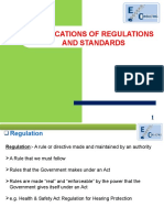 Application of Regulations and Standards