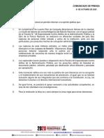 Comunicado de Prensa 21102020
