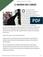 Going to Basics, Maximum Fault Current - IAEI Magazine