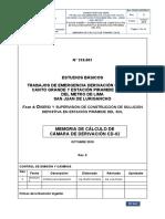 Memoria de Calculo de Cámara de Derivación CD-02