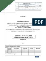 Memoria de Calculo de Cámara de Empalme CDE-01