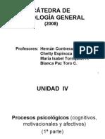 Unidad IV Procesos psicologicos (cognitivos, motivacionales y afectivos) (primera parte 2008) (cognicion)