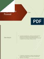 Organização pessoal apresentação