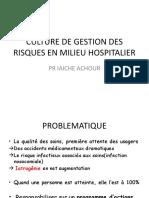 CULTURE DE GESTION DES RISQUES EN MILIEU HOSPITALIER