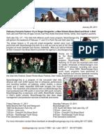 Press Release Feb 2011 Shows
