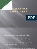 LEGAL OFFICE PROCEDURES 1