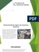 Almacenamiento y Transporte de productos químicos y sustancias