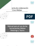 Manual de uso de Herramientas Teams y Meeting_Webex