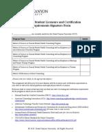 CNL 505 RS T3StudentLicensureCertRequirementsSignatureForm (1)