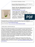 Land use cover changes and vulnerability to flooding in the Harts catchment, South Africa