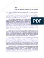 RELACIONES ENTRE EL MINISTERIO PÚBLICO CON LOS PODERES POLÍTICOS
