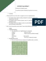 Actividad de aprendizaje 3 Evidencia Estructuración de una prueba