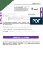 DECIMALES CUARTO PERIODO 1 DE OCTUBRE
