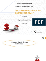 COSTOS Y PPTOS - FORMULA POLINÓMICA-ax