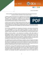 Informe Preliminar Bolivia 2020